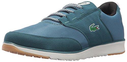 Lacoste Men's L.Ight 417 1 Sneaker, Dark Green/Black, 10 M US