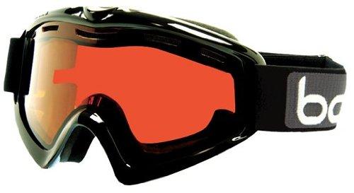 Bolle X-9 OTG Goggle,Shiny Black,Vermillon - Glasses Ski Goggles Over