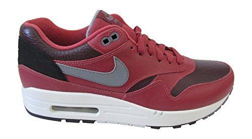 Nike Air Max 1 537383, Herren Sneaker Low-top Profondo Bordeaux Fresco Grigio Cedro 600
