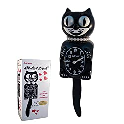 New Classic Vintage Kit-Cat Klock Black Lady Cat Clock with Free Batteries Made in USA Official Dealer