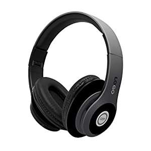 iJoy Matte Rechargeable Wireless Bluetooth Foldable Over Ear Headphones with Mic