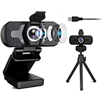 Dual Microphone Camera with Tripod&Privacy Cover,Sherry Camera for Computers,Plug&Play…