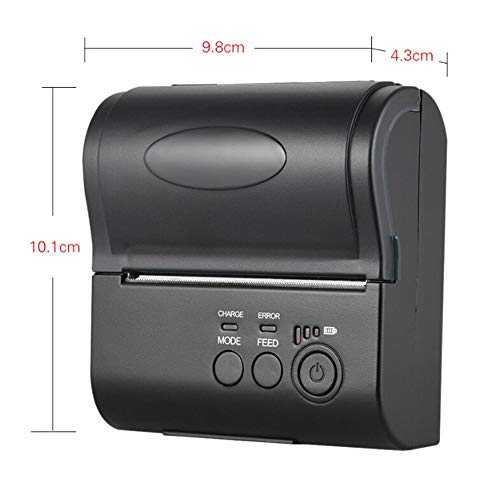 Bulary 80MM Wireless Bluetooth Thermal Printer Mini Portable Ticket Reception Bill Printing with Operating Indicator by Bulary (Image #1)