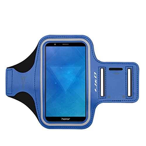 J&D Armband Compatible for Huawei Honor 7X/Huawei Mate SE Armband, Sports Armband with Key Holder Slot for Huawei Honor 7X, Huawei Mate SE Running Armband, Perfect Earphone Connection While Workout