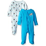 Rosie Pope Baby Boys' Coveralls 2 Pack, Sharks/Waves, 3-6 Months