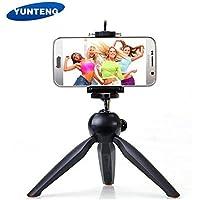 king shine YUNTENG Brand YT-228 Universal Mount and Phone Holder Clip Desktop Self-Tripod for Phones and Digital Camera