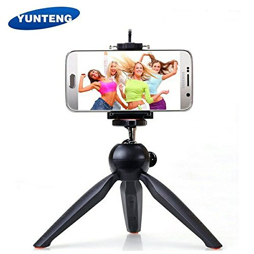 Yunteng YT 228 Mini Tripod with Phone Holder Clip for Smartphone