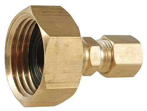 Low Lead Brass Female Adapter, 3/4'' FGH x 1/4'' Compression Connection - pack of 5