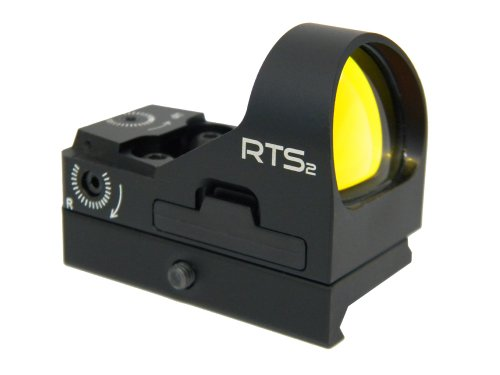 (C-MORE Systems RTS2 6 MOA Red Dot Sight with Rail Mount, Black)