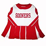 Oklahoma Sooners Dog Cheer Leading Dress & Leash Set SizeSM