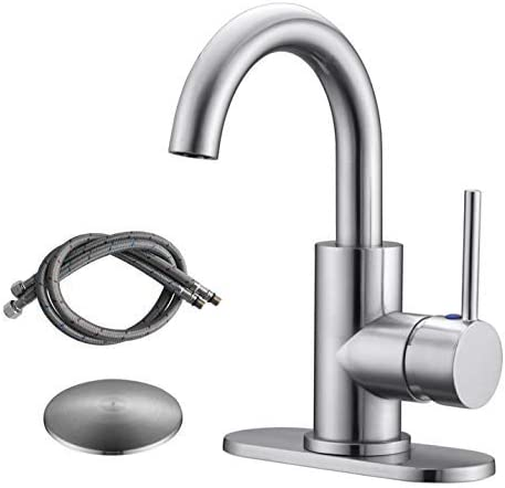 Brushed//Black Swivel Round Kitchen Faucets Laundry Mixer Sink Tap Basin Brass