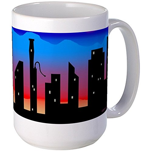 CafePress - Large Bassoon Skyline Mug - Coffee Mug, Large 15 oz. White Coffee Cup -