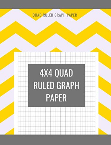 4x4 Quad Ruled Graph Paper: 100 Pages Quad-ruled Paper Large - Engineering Composition Isometric Notebook 4 Squares Per Inch Math And Science ... And Designers Drawing Vol 8 - Yellow Cover