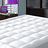 What Size Is a Cal King Mattress   Pillowtop Mattress Pad Cover California King Size - Hypoallergenic - Cotton Down Alternative Filled Mattress Topper