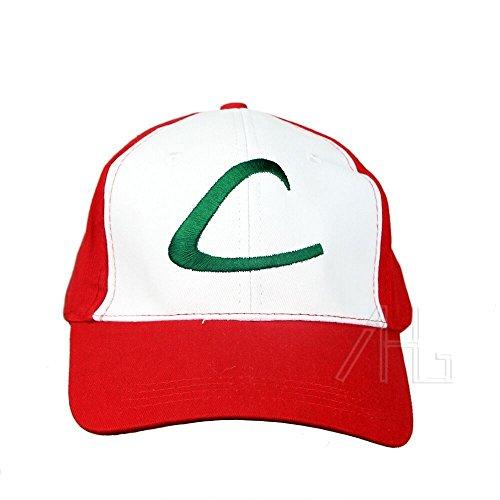 Pokemon-Ash-Ketchum-Red-Hat-Cap-Trainer-Cosplay-Fancy-Dress-Halloween-Costume
