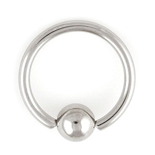 One Stainless Steel Captive Bead Ring: 18g 5/16