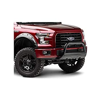 Lund 47121206 Bull Bar with Integrated LED Light Bar Black Steel for 2004-2019 Ford F-150