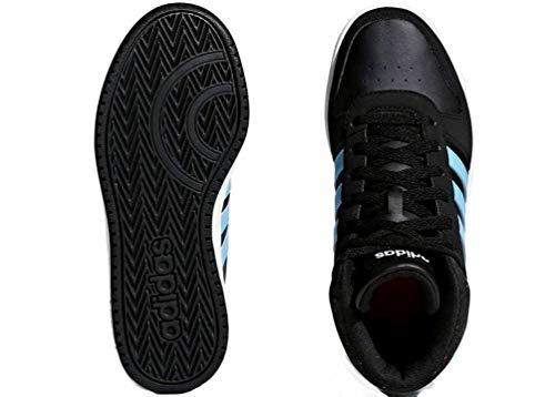 lowest price 28af1 22fb2 negro Vs Mixte Noir Mid 000 0 Gymnastique 2 Chaussures De Hoops K Enfant  Adidas 7gzdqw7