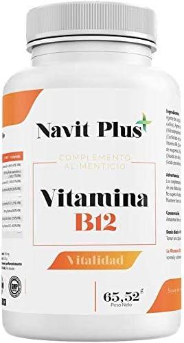 NAVIT PLUS Vitamina B Complex 130 | Vitamina B1, B2, B3, B6, B12, Biotina y Ácido Fólico alta concentración | Vitaminas para el cansancio, mejora de ...