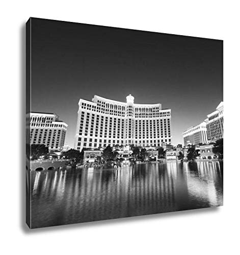 - Ashley Canvas Las Vegas 11 Sep 2010 Bellagio Hotel Casino During Sunset, Home Office, Ready to Hang, Black/White 20x25, AG6429397