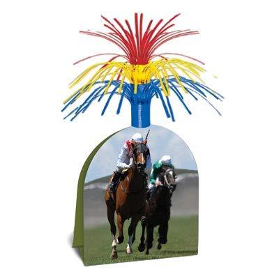Paquete De 4 carreras de caballos Jockey Casco Mini Centros De Mesa-mesa De Fiesta Decoraciones
