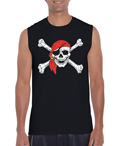 Mom's Favorite Christmas T-Shirt Jolly Roger Skull Crossbones Halloween Ugly Sweater Xmas Party Mens Sleeveless Shirts]()