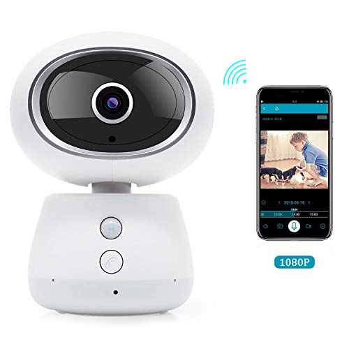 Home camera Pet Camera for Home-1080p Home Security Surveillance System with Auto-Cruise, 3D Navigation Panorama View, Night Vision, Motion Tracking, Remote Control with iOS/Android for - Shackle System Reverse