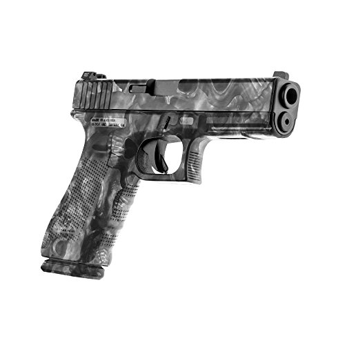 GunSkins Pistol Skin - Premium Vinyl Gun Wrap with Precut Pieces - Easy to Install and Fits Any Handgun - 100% Waterproof Non-Reflective Matte Finish - Made in USA - Proveil Camo Reaper Black
