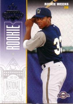 2003 Donruss Champions Baseball - 2003 Donruss Champions Baseball Rickie Weeks Rookie Card