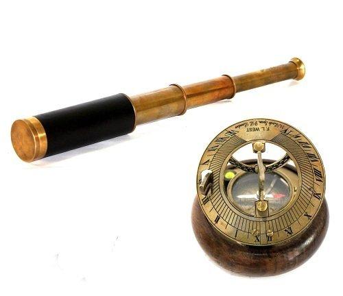 Figurina nautico marittima meridiana & telescopio Combo collezione Collectibles Buy ZNG1202
