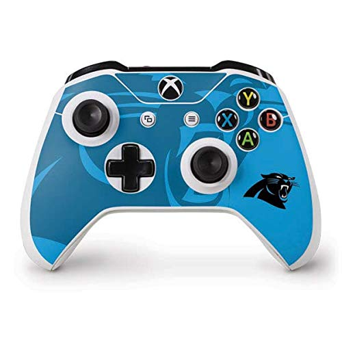 (Skinit Carolina Panthers Double Vision Xbox One S Controller Skin - Officially Licensed NFL Gaming Decal - Ultra Thin, Lightweight Vinyl Decal Protection)