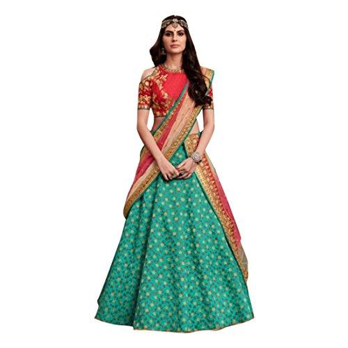 Blue Silk Wedding Stylish Blouse Work Lehenga Chaniya Choli Party Net Dupatta Muslim Women Festival 7363
