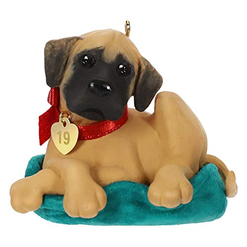 Hallmark Keepsake Christmas Ornament 2019 Year Dated Dog, Dane Puppy Love