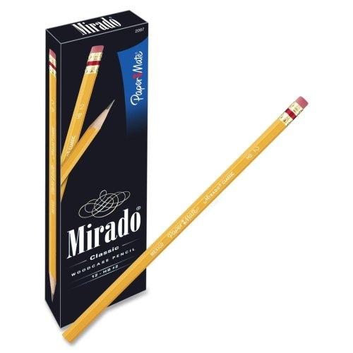 Paper Mate Mirado Classic Pencils with Eraser - #2 Pencil Grade - Yellow Barrel - 12 / Dozen