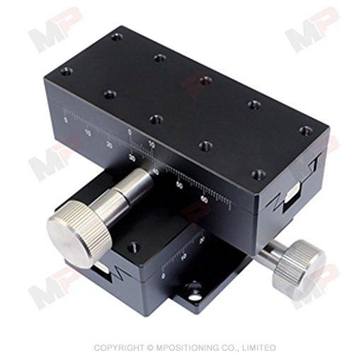 MPositioning DT01XY-60 Precision XY Dovetail Translation Stage 60 mm Travel Pinion and Rack System 40 x 90 mm Table