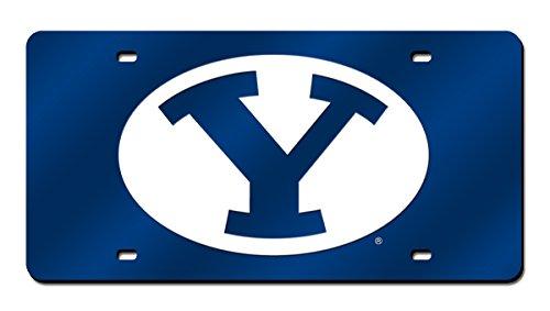 NCAA BYU Cougars Laser Inlaid Metal License Plate Tag