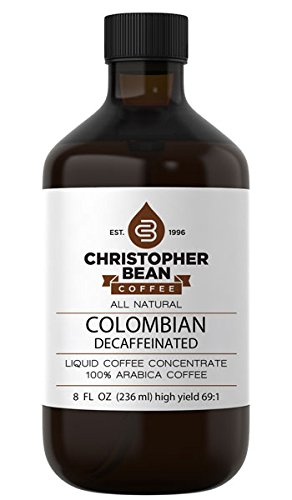 Decaffeinated Cold Brew Or Hot High Yield Liquid Coffee Concentrate 8 Ounce Bottle
