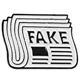 SODIAL Newspaper Enamel Pin Fake News Took Drunk Brooch Bag Clothes Lapel Pin Button Badge Jewelry Gift for Friends