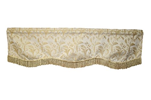 Violet Linen Luxury Damask Window Valance, 60