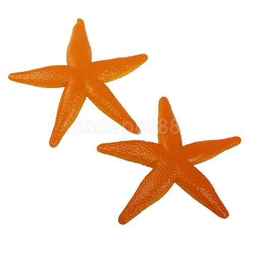 8pcs Plastic Starfish Tropical Luau Decorations Party Favors Fish Tank Decor by uptogethertek