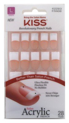 Kiss Salon Acrylic French Kit Back Talk Long