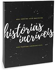 Álbum de Fotos Criativa Histórias Incríveis - 160 Fotos 10x15 cm - Preto - 23.2x18.4 cm