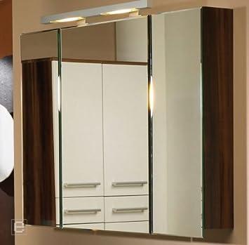 Badezimmer Badmobel Spiegelschrank Turdampfer Neonlicht Hochglanz