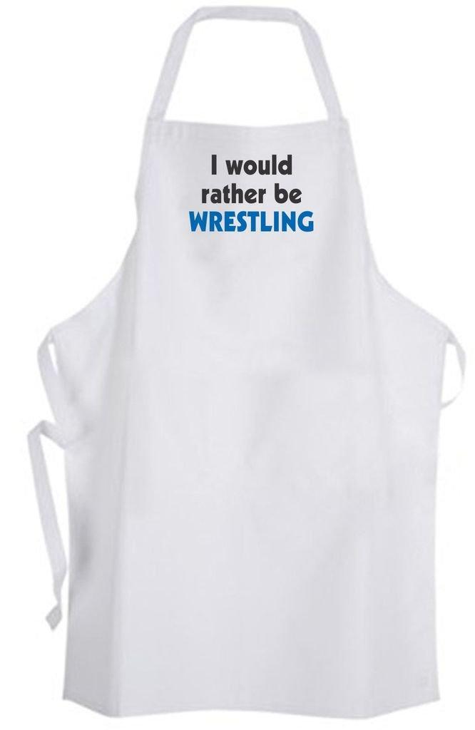 I would rather be Wrestling - Adult Size Apron – Wrestler