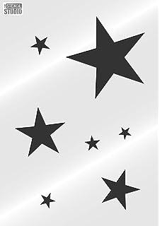the stencil studio stars stencil reusable stencil size small a4