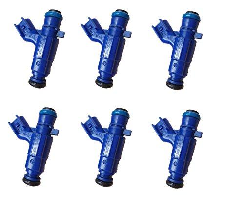 Set Fuel Injector Suzuki (Re-Manufactured OEM Bosch 0280156300 Fuel Injectors for Suzuki/Chevy/Cadillac/Pontiac/Saturn 3.2L 3.6L Set of 6)