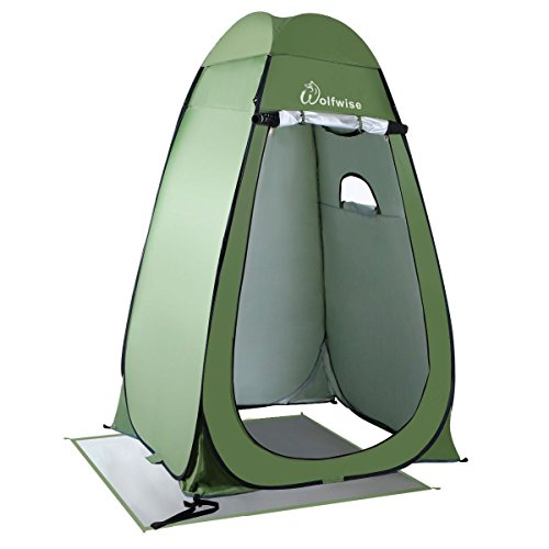 WolfWise Shower Tent Privacy Portable Camping Beach Toilet Pop Up Tents Changing Dressing Room Outdoor Backpack Shelter Green Review