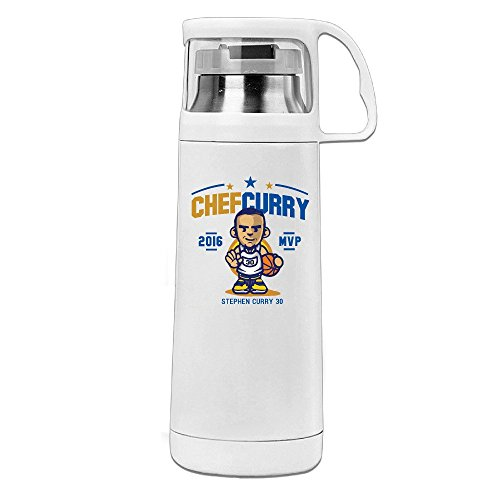 - MeiXue Golden State Warriors Stephen Curry 2016 MVP 2X Vacuum Cup Water Bottle White