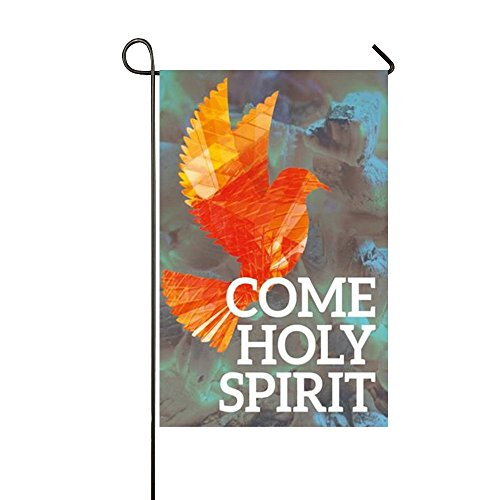 Small Mim Come Holy Spirit Flying Orange Bird Garden Flag Holiday Decoration Double Sided Flag 12.5