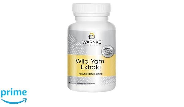 Extracto de Yam salvaje - 20% de diosgenina + Vitamina C y E, betacaroteno, zinc y selenio - 100 cápsulas - vegetariano - 65g: Amazon.es: Salud y cuidado ...
